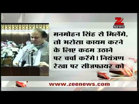 Zee News : Pakistani PM Nawaz Sharif sad over Indian soldiers killings