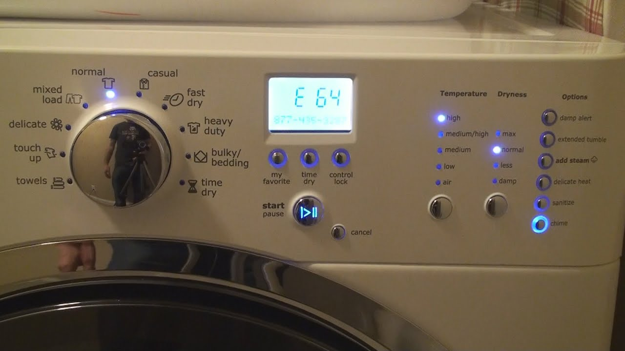 Electrolux Electric Dryer E64 Heating Element Repair Youtube Ge Wiring Diagram