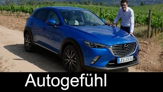All-new Mazda CX-3 FULL REVIEW test driven 2016 small SUV sports + center line - Autogefühl