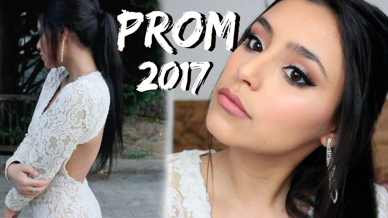 White dress and makeup - Prom Makeup 2017 White Dress