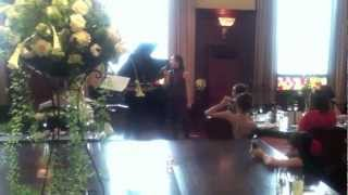 Shoko singing with my sister(Bride) playing the piano 姉の結婚式で...
