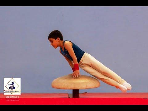 G. Artística Masculina 2018. David Martínez. Ejercício en seta gimnasia. Club Gimnasia Burgos