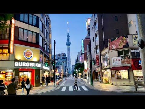 【4K】Tokyo Evening Walk - Kinshichō(A Little Tokyo Skytree),2021