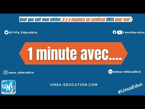 #1minuteAvec  Thierry Fauconnier - Secrétaire Régional #UnsaEduc île de France