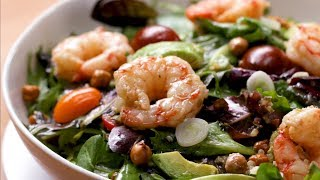 How to Make a Seared Shrimp and Avocado Salad Recipe • Tasty