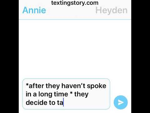 Text story Annie is having a baby and hayden is the dad