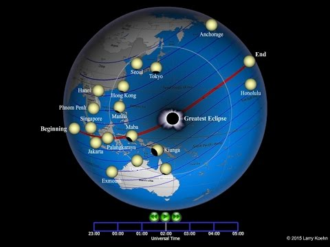 March 9, 2016 Total Solar Eclipse over the Pacific
