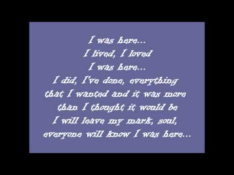 Beyonce-I was here Lyrics (United Nations World Humanitarian Day Perform..)