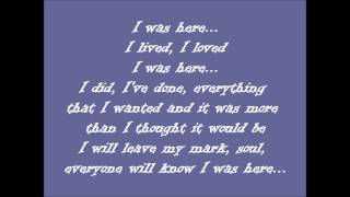 Beyonce-I was here Lyrics (United Nations World Humanitarian Day Perform..)