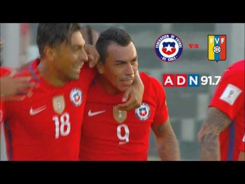 Chile 3 Venezuela 1 - Eliminatorias Mundial De Rusia 2018 - ADN Radio Chile 91.7 (GOLES)