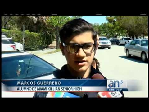 Jovencita apuñala a su novio en Miami Killian Senior High School - América TeVé