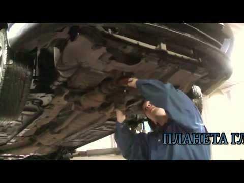 Установка пламегасителя и замена гофры на авто Kia Spectra.Установка пламегасителя в СПБ.
