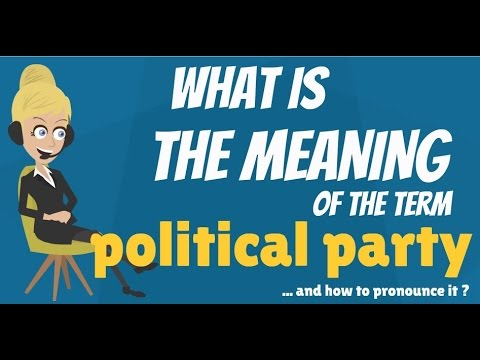 What is POLITICAL PARTY? What does POLITICAL PARTY mean? POLITICAL PARTY meaning & explanation