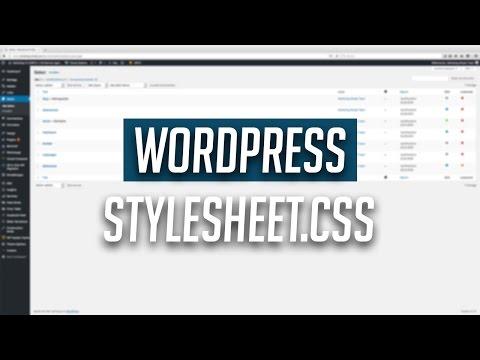 WordPress: Wo finde ich die style.css (Stylesheet) Datei?