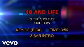 Skid Row - 18 And Life (Karaoke)