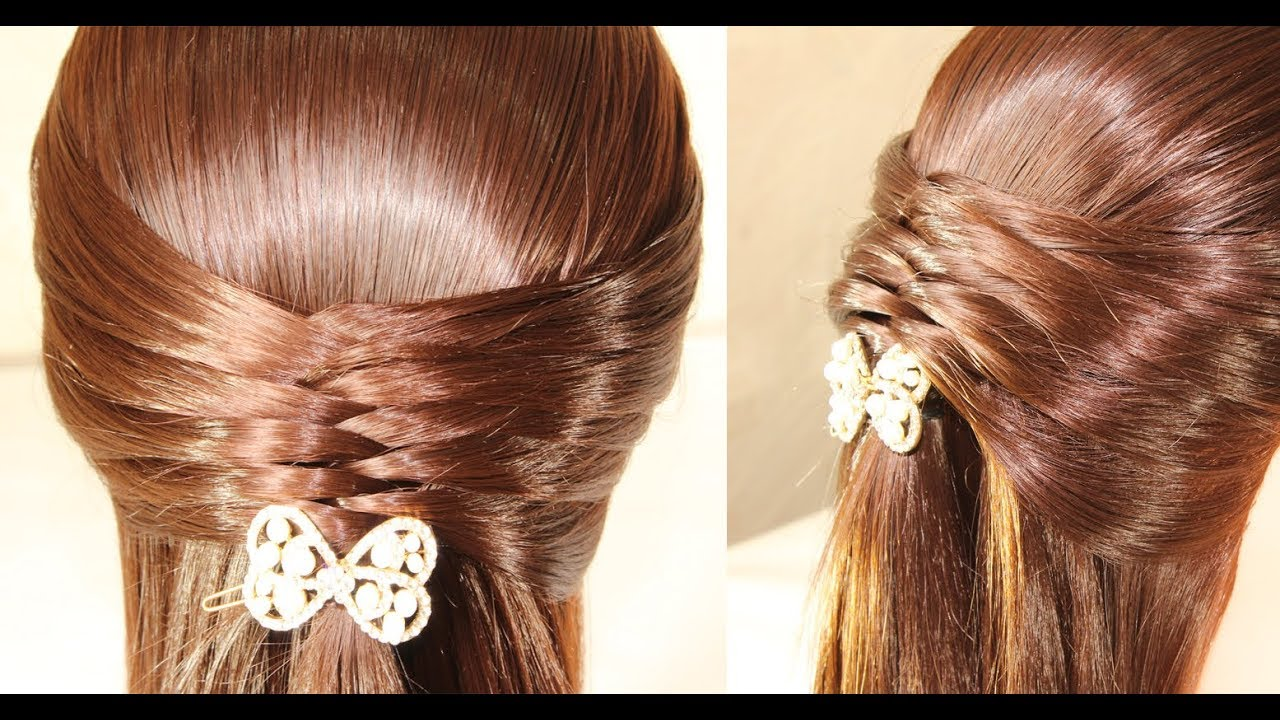 simple and very beautiful hairstyle ★ hairstyles to school