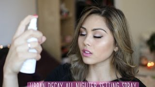 Urban Decay All Nighter Makeup Setting Spray Review | My Beauty Bunny