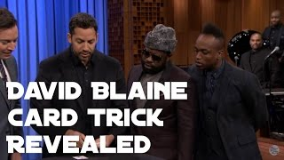 David Blaine Card Trick on Jimmy Fallon REVEALED!