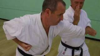 Tom Hill's Karate Dojo;  Goju Kata Bunkai; Shisochin, elbow break