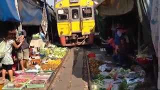 Самый опасный поезд в мире. Самут Сонгкрам, Таиланд