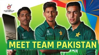 ICC U19 CWC: Meet the Pakistan squad