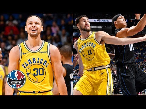 Steph Curry, Klay Thompson, DeMarcus Cousins combine for 75 points in loss to Magic | NBA Highlights