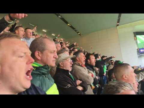 Celtic Fans Having A Party At Ibrox [5-1] 29/04/17