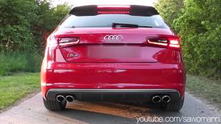 2013 audi s3 300 hp launch control engine rev exhaust sound pull away