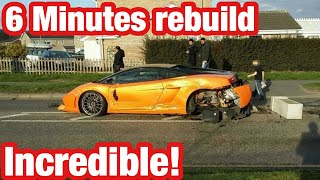Lamborghini Gallardo Wrecked & Rebuilt ( CLEAN TITLE ) IN 6 MINUTES !!!