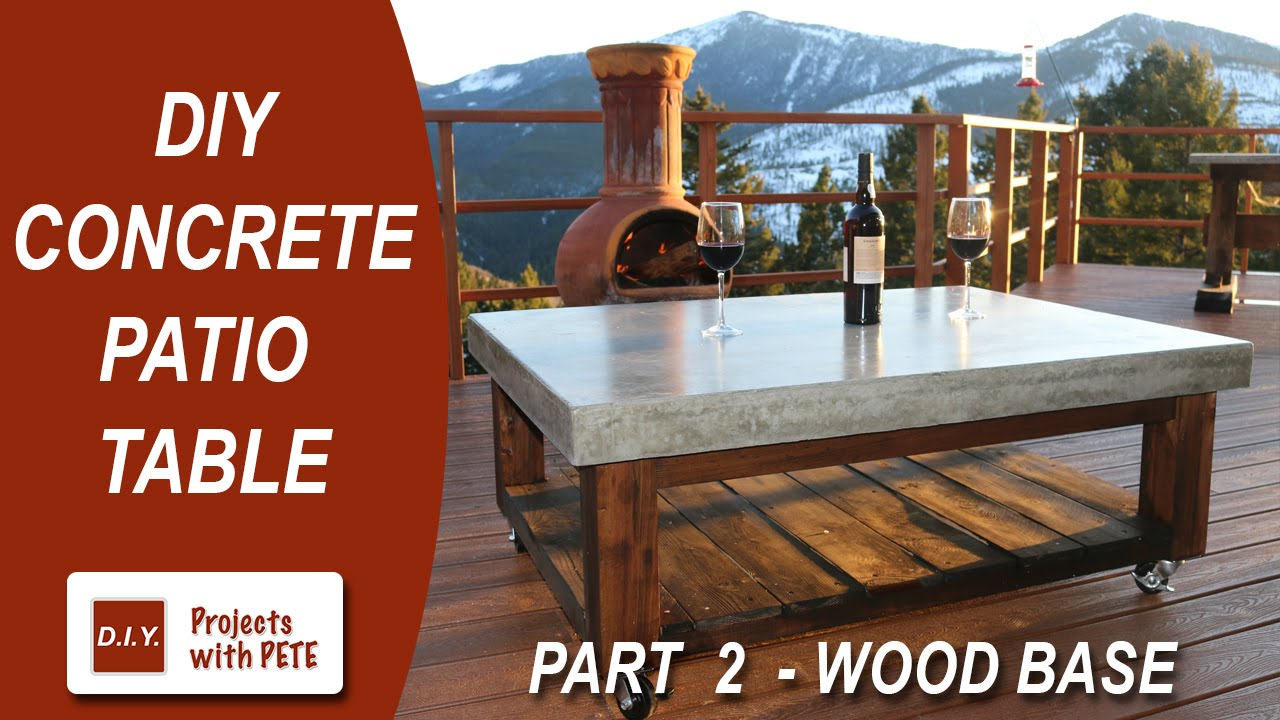 Part 2. How to make a Concrete Coffee Table for the Patio (Wood Base ...
