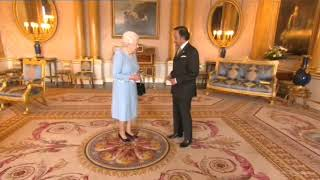 His Majesty the Sultan meets Her Majesty Queen