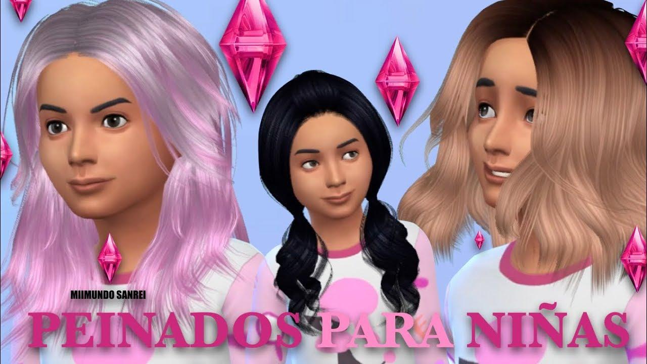 Super dulce peinados los sims 4 Fotos de las tendencias de color de pelo - LOS SIMS 4 | PEINADOS PARA NIÑAS - YouTube