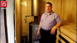 видео Обзор дровяной печи-каменки Kastor