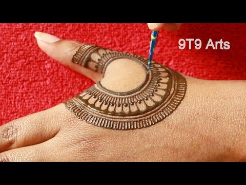 New Stylish Floral Mehndi Design for Hands | Easy Mehndi Designs | Simple Full Hand Mehndi designs - 9T9 Arts