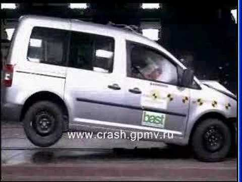 vw caddy euroncap crash test youtube. Black Bedroom Furniture Sets. Home Design Ideas