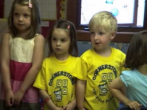 McK singing Mother's Day songs at Cornerstone Christian Preschool