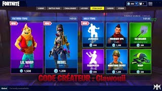 COMONNITE OF FEBRUARY 21, 2019 - FORTNITE ITEM SHOP FEBRUARY 21 2019 - CODE creator Clawouii