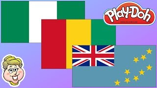 Play-Doh Flags! Nigeria, Guinea, and Tuvalu! EWMJ #446