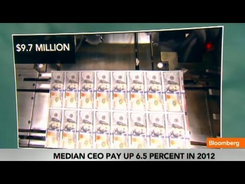 Median CEO Pay Rises to $9.7 Million