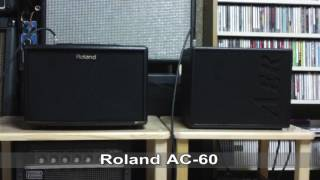 Compared ROLAND AC-60 With AER Compact60/3 In A Flat Tone Sound With Ovation 1768 ELITE