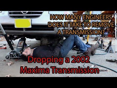 nissan maxima transmission removal - 6 speed manual transmission hlsd vlsd  2002 2003 2004 vq35de
