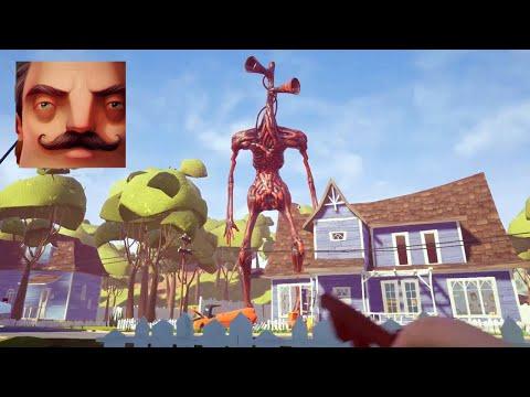 Hello Neighbor - My New Neighbor Big Siren Head Act 1 Gameplay Walkthrough