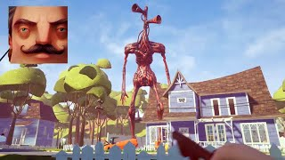Hello Neighbor - My New Neighbor Big Siren Head Act 1 Gameplay Walkthrough
