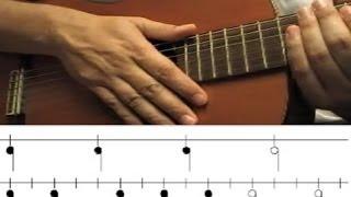 Como tocar Ritmo de Samba - Bossa Nova (Aula Violão Batida) Brasil. Mano derecha.
