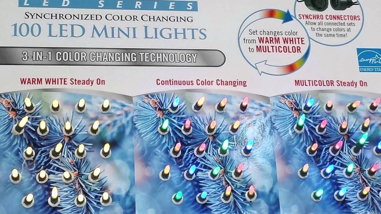 Sylvania  Count Led Mini Lights  Synchronized Color Changing Review Youtube