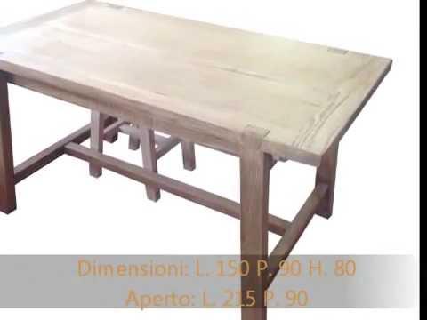 Tavolo tavoli fratini da cucina apribili allungabili in rovere massello - You...