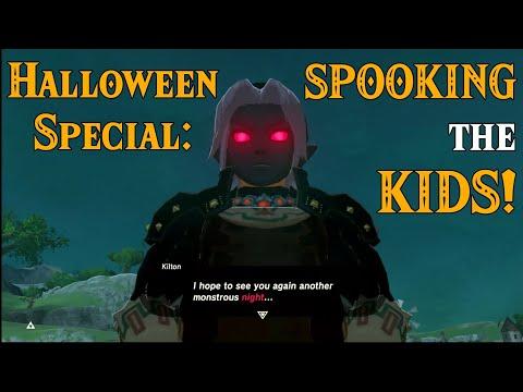 HALLOWEEN Special: SPOOKING the CHILDREN! TRICK? or Treat in Zelda Breath of the Wild DLC