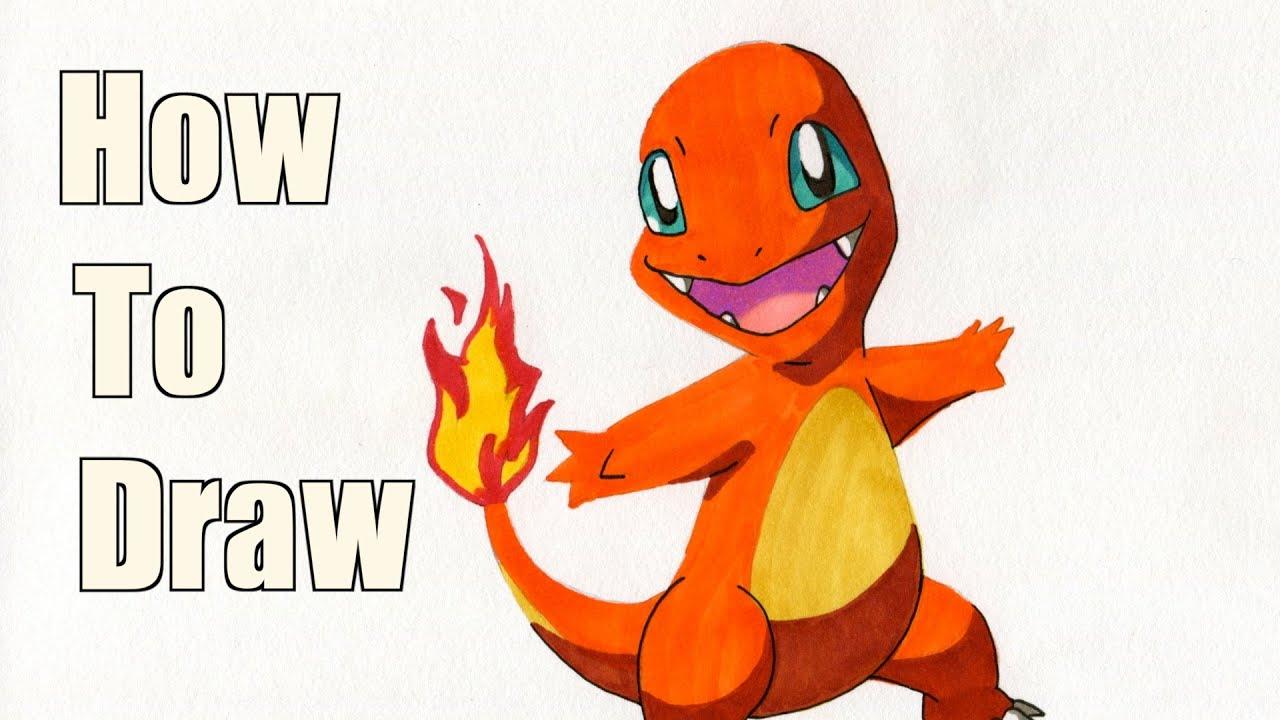 how to draw charmander pokemon drawing tutorial youtube