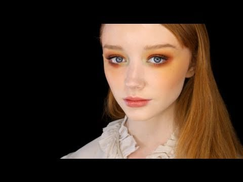 Colourful, Contemporary Look Using Vintage Makeup - YouTube