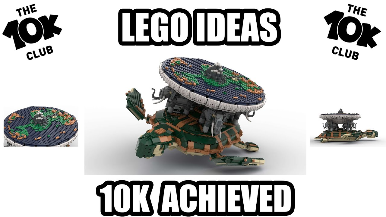 LEGO IDEAS - TERRY PRATCHETT'S DISCWORLD -10K ACHIEVED